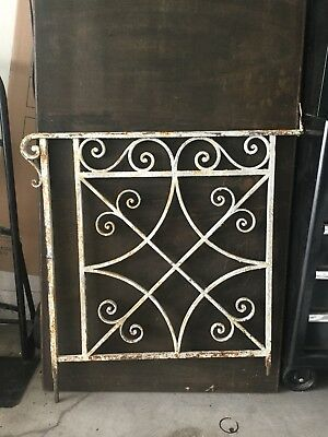 Architectural Salvage Two (2) Wrought Iron Porch Side Step Railings