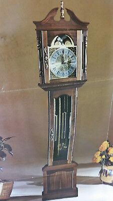 Emperor Grandfather Clock *120 Do-it-Yourself Case Assembly Kit (NEWPORT) Walnut