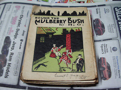 Round The Mulberry Bush by Harry Goldflam 1937 Book w Vintage Ads Johnnie Walker