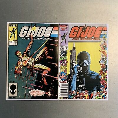 G.I. Joe 21 And 53 Silent Issue 1st appearance Storm Shadow Snake Eyes GI upc