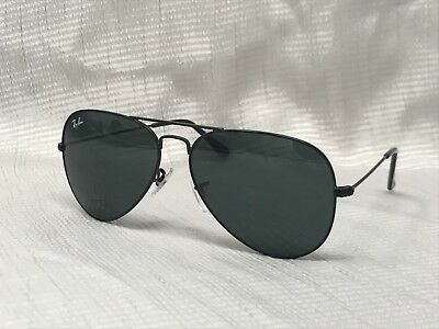 RAY BAN AVIATOR RB3025 BLACK LENS ON BLACK FRAME 58mm