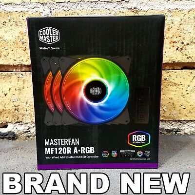 COOLER MASTER MASTERFAN MF120R A-RGB 120mm Fan - 3 Pack + LED Controller