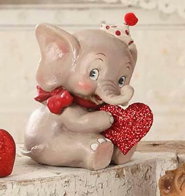 Bethany Lowe - Wild About You Valentine Elephant - Love Animals Heart - TD6019