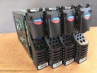 Lot of 4 Seagate Cheetah NS ST3400755FCV 400GB 10K Fiber Channel HD w/tray