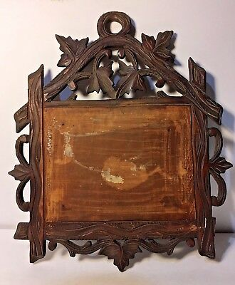 Antique Black Forest With Carved Grape Vine and Leaf, One Piece of Oak