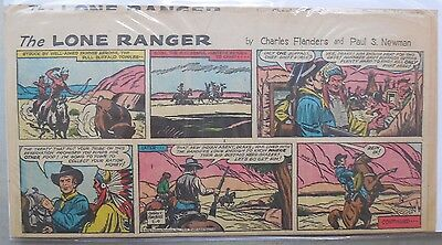 (8) Lone Ranger Sunday Pages by Fran Striker and Charles Flanders from 1964
