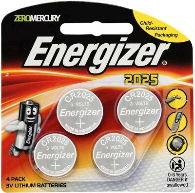 Energizer 2025/ CR2025 3V Lithium Batteries 4 Pack