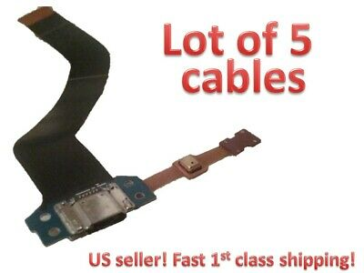 "(5x) Galaxy Tab 4 10.1"" charging sync USB flex cable SM-T530, T530NU, T531, T535"