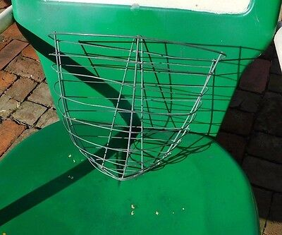 Primitive Antique Wire Wall Hang Basket 10 Inches Tall