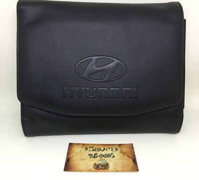 Collectible Advertising Hyundai OEM Leather Case With Pen - Fast US Shipping