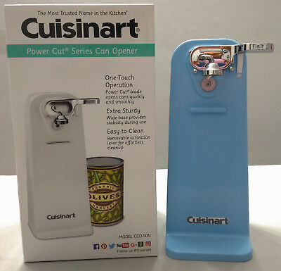 New Crystal Blue Cuisinart Tall Electric Can Opener, Crystal Blue Kitchen Aid