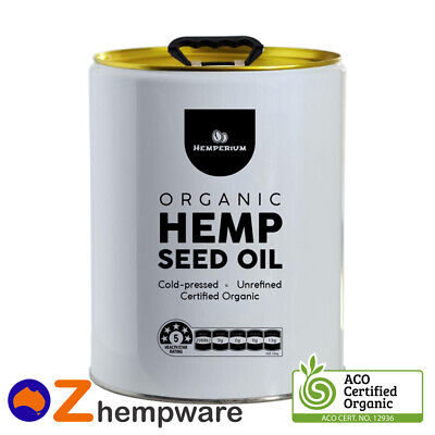 20L Hemp Seed Oil Bulk Certified Organic Cold Pressed Unrefined Light Taste