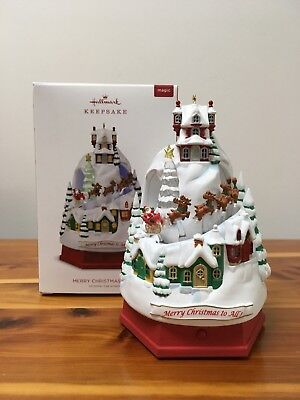 NEW HALLMARK 2018 Merry Christmas To All Ornament (LIMITED EDITION REPAINT)