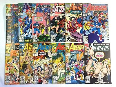 AVENGERS #343-346, #351, #353-359 - 12 issues total ('92-93)