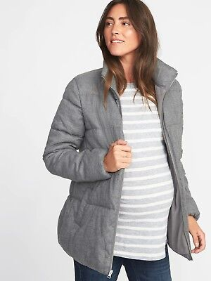 f495f378770 NWT  Old Navy Maternity Frost Free Jacket Heather Gray   Size
