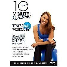 10 Minute Solution : Fitness Ball Workouts -Dvd-R-4- Like New-Free Post Aus-Wide