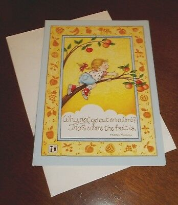 """Mary Engelbreit blank note card w/envelope """"Why not go out on a limb..."""""""