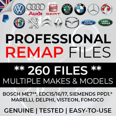 Remap Files - Genuine Tested Files - VW Audi Skoda Seat BMW Citroen Ford Peugeot
