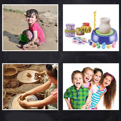 AU Kids Pottery Wheel Educational Playing Toy Easy Use Adjustable Speed Design