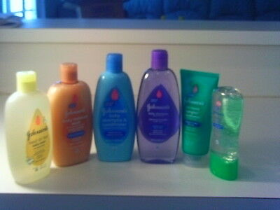 6 Johnson's baby oil gel, shampoo & no more tangles shampoo & conds. & wash