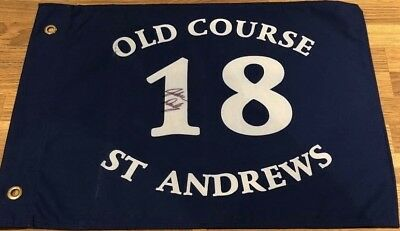 John Daly Signed Pin Flag St Andrews 1995 Open Champion