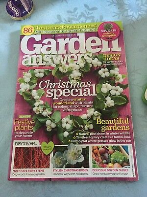 GARDEN ANSWERS MAGAZINE DECEMBER 2018 Issue Read Once Free Postage