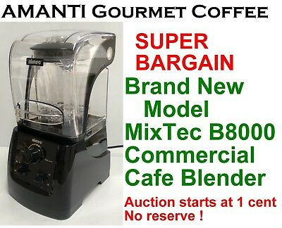 BRAND NEW in Box MixTec B8000 Commercial Blender with Sound Hood + AMANTI Bonus