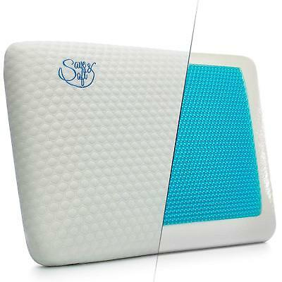 Memory Foam Pillow with Cooling Gel - Orthopedic Pillows Prevent Back