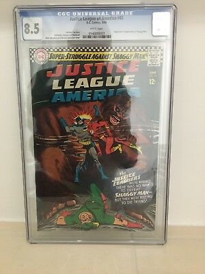 CGC Graded Justice League Of America 1966 8.5 Origins 1st Appearance Shaggy Man