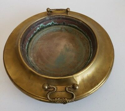 Antique Heavy Copper Bowl. Hammered, Weathered, Rustic & Vintage. Art. Artsian.