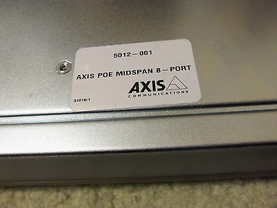 Axis Communications 5012-001 Power over Ethernet Midspans (8 Ports)