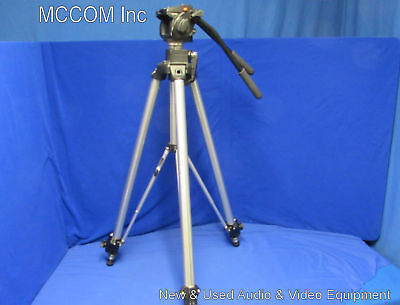 Manfrotto 501HDV Video Head Aluminum Tripod w/ 3068 legs, 2 handles