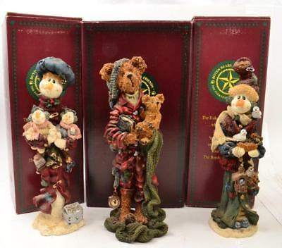 Lot of 3 Boyds Bears & Friends with Boxes - Bearstone - Lot #9 - #LBB-01