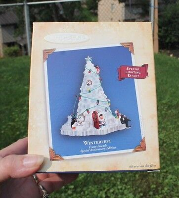 Hallmark Keepsake Ornament WINTERFEST Frosty Friends Anniversary Edition 2004