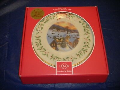 Lenox 2012 Annual Christmas Holiday Collector Plate 22nd USA