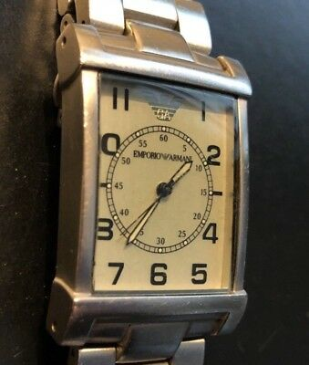 Used Emporio Armani Ar 0216 Quartz Watch, From The Historical Classic Collection