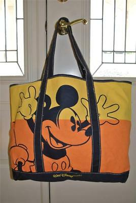 Walt Disney World Mickey Mouse Two Tone Large Canvas Tote Bag