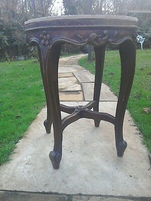 Antique 19th century french stool (A/F) beautifully hand carved.