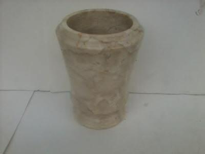Antique Egyptian Solid Carved Marble Cosmetic Unguent Vase