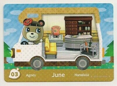 Animal Crossing amiibo Card: June 03 (Welcome Series 5) Waiting Room RV New Leaf