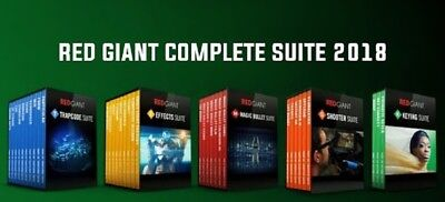 Red Giant Complete Suite 2018(Updated 12.03.2018)with SERIALS