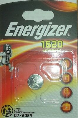 1X ENERGIZER 1620 CR1620 DL1620 Lithium 3V Coin Cell  Free 1st Class post UK