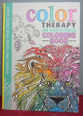New COLOR THERAPY ~ An Anti-Stress COLORING BOOK for Adults ~ Hardcover
