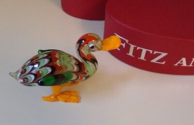 "Fitz & Floyd ""Ashley"" Glass Menagerie Duck Limited Edition New in Box"