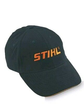 4dd10794663 GENUINE STIHL BLACK   orange baseball cap hat NEW! - EUR 7