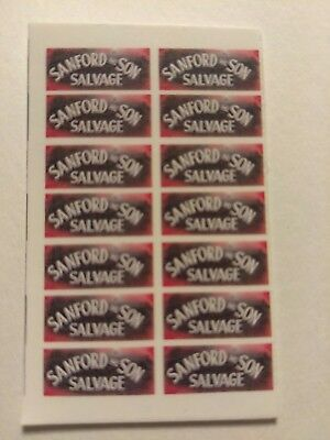 Sanford & Son! White Backing!!! Water-Slide Decals 4 Hot Wheels ,1:64 Usa!!!