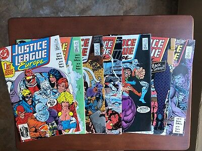 Justice League Europe #1 2 3 4 5 6 7 (1989) 9.2 NM DC Key Issue Comic Book Lot