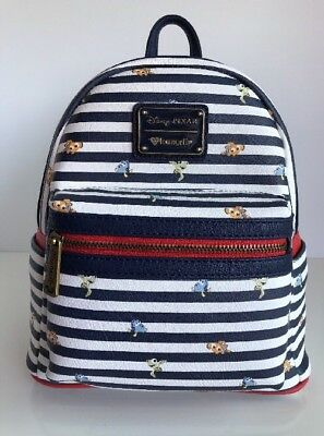 6463479cceb DISNEY LOUNGEFLY PIXAR Finding Nemo Striped Mini Backpack Bag NWT ...