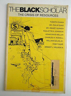 The Black Scholar Journal Of Black Studies and Research 1978 March