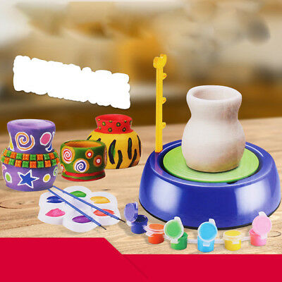 Electric Pottery Wheel Machine Artistic Toy for Kids Early Art Learning 1PC
